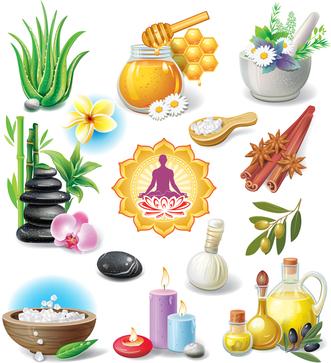 Set of spa treatment symbols