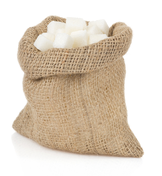 sugar cubes on white