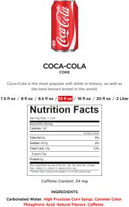 Coke Nutrition Facts